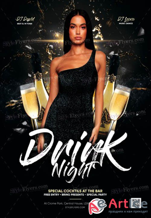 Drink Night V1711 2019 PSD Flyer Template