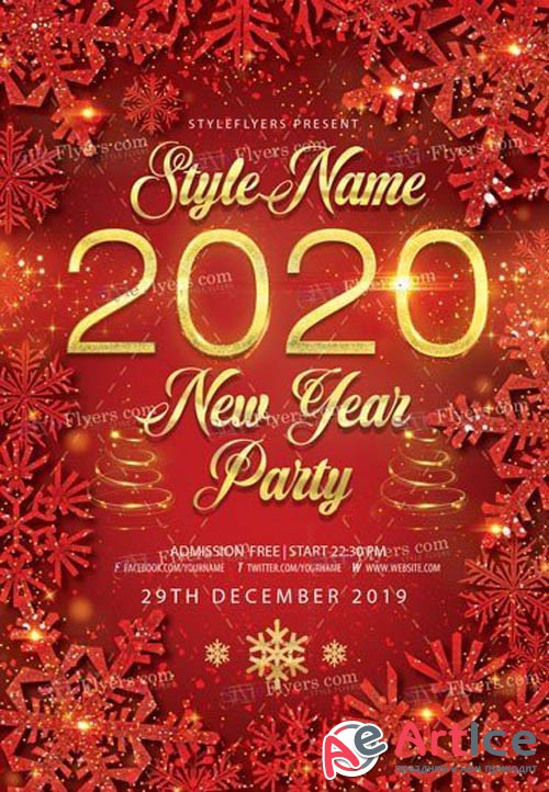 2020 New Year Party V1612 2019 PSD Flyer Template