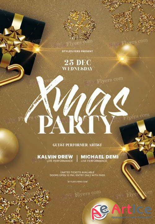 Xmas Party V1612 2019 PSD Flyer Template