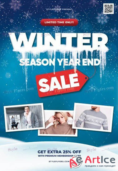 Winter Season Year End Sale V1612 2019 PSD Flyer Template