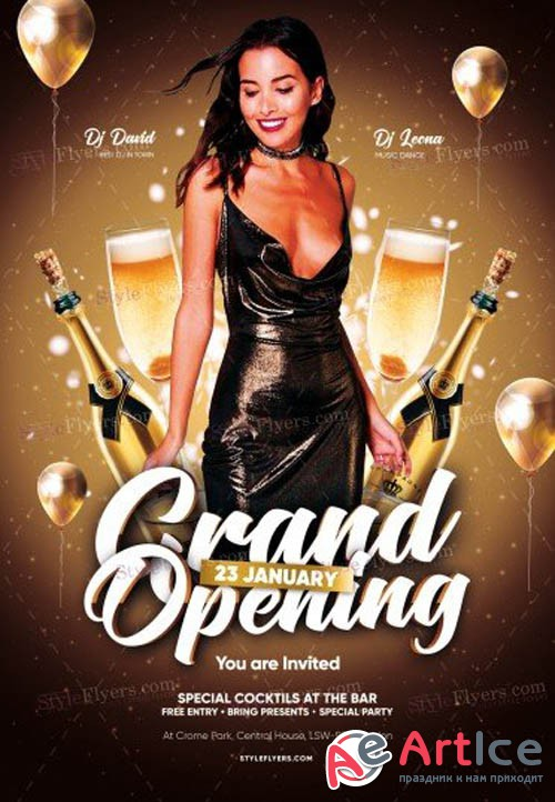 Grand Opening V2912 2019 PSD Flyer Template