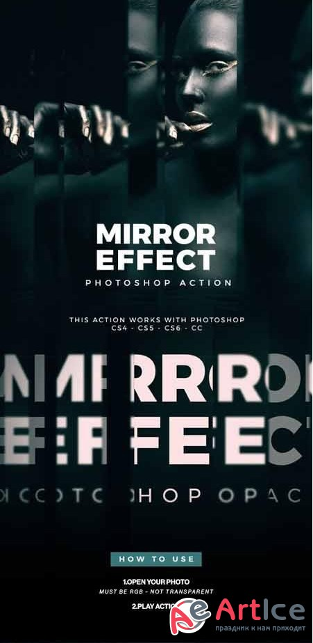 Mirror Effect Photoshop Action 22552784