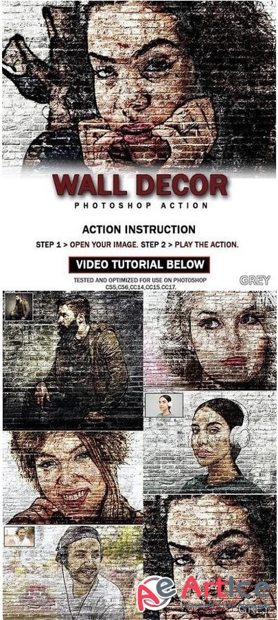 Wall Decor Photoshop Action 26018105