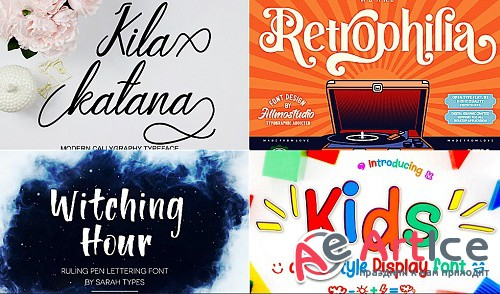 PROFESSIONAL BEAUTIFUL FONTS (Collection of 4 pieces.)