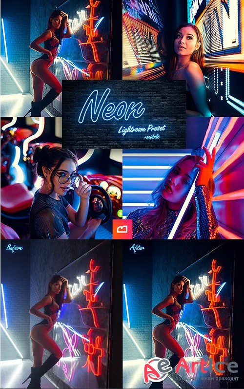 Artistic Collection - Neon Lightroom Preset (Mobile & Desktop) - 24926596
