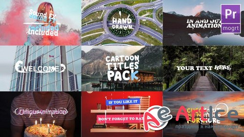 Cartoon Titles Pack 23719815 - Premiere Pro Template