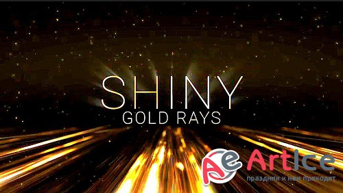 Shiny Gold Rays | Award Titles 4 - Project for After Effects
