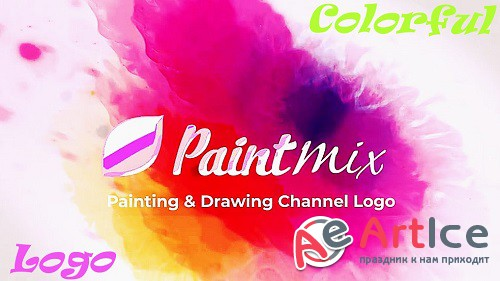 Colorful Paint Logo Reveal 877177 - Project for After Effects