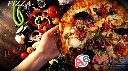 Pizza Logo Opener 878902 - Project for After Effects