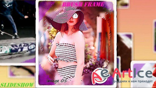 Brush Frame Slideshow 879609 - Project for After Effects