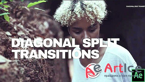 Diagonal Split Transitions 879696 - Project for After Effects