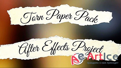 Torn Paper Pack 866321 - Project for After Effects