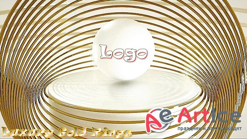 Luxury Gold Rings Logo 885972 - Project for After Effects